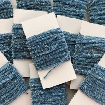 "Cornflower Blue & Silver Chenille Sparkle Cording ~ 5 yards ~ Tiny 1/8"" wide"