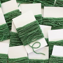 "Green & White + Silver Chenille Sparkle Cording ~ 5 yards ~ Tiny 1/8"" wide"