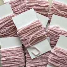 "Pale Pink & White + Silver Chenille Sparkle Cording ~ 5 yards ~ Tiny 1/8"" wide"