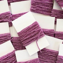 "Magenta & White + Silver Chenille Sparkle Cording ~ 5 yards ~ Tiny 1/8"" wide"