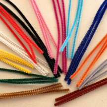 Retro Pipe Cleaners Mixed Pack of Chenille Stems ~ 3mm