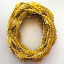 "3-1/4"" Bumps Metallic Gold Retro Chenille Bump Wired Tinsel Garland ~ BULK ~ 10 Meter Garland Length"
