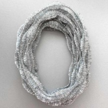 "3-1/4"" Bumps Metallic Silver Retro Chenille Bump Wired Tinsel Garland ~ BULK ~ 10 Meter Garland Length"