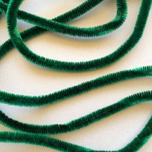 "Soft 1/2"" Wired Chenille Cording in Emerald Green ~ 1 yd."