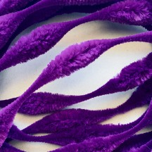 "Large 5"" Bump Chenille in Violet Purple ~ 1 yd."