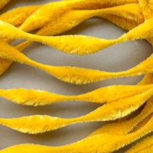 "Large 5"" Bump Chenille in Yellow ~ 1 yd."