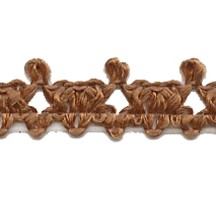Elegant Light Weight Cocoa Brown Woven Trim ~ Vintage Old Store Stock