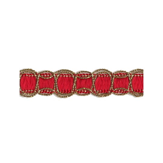 Old Store Stock Gold and Red Scalloped Trim ~ Vintage