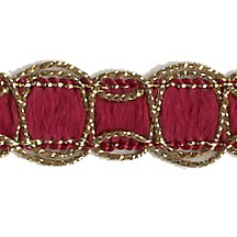Old Store Stock Gold and Burgundy Scalloped Trim ~ Vintage