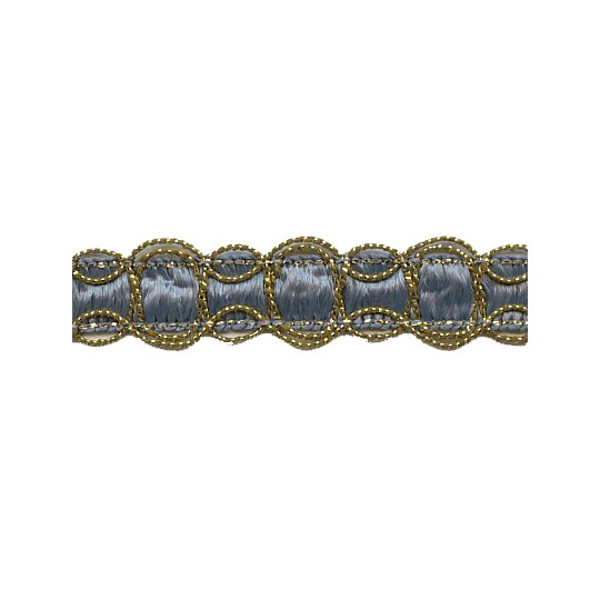 Old Store Stock Gold and Blue Scalloped Trim ~ Vintage