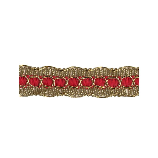 Old Store Stock Gold and Red Extra Fancy Trim ~ Vintage