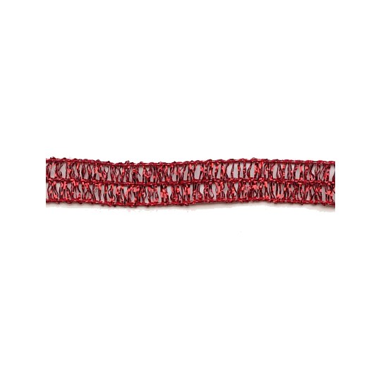 Old Store Stock Narrow Wired Red Tinsel Trim ~ Vintage