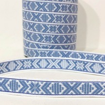 Light Blue Nordic Folkloric Costume Trim ~ Sweden ~ 15 mm wide
