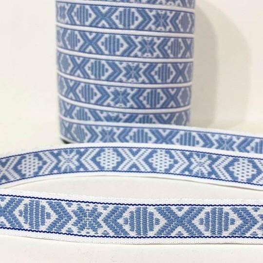 Light Blue Nordic Folkloric Costume Trim ~ Sweden ~ 15 mm wide