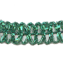 Old Store Stock Looped Green Tinsel Trim~ Vintage