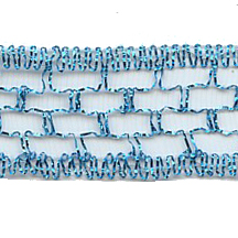 Old Store Stock Blue Wired Mesh Trim ~ Vintage