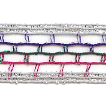 Old Store Stock Multi Colored Wired Mesh Trim ~ Vintage