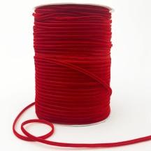 "Tiny Velvet Ribbon Trim in Cardinal Red ~ 1/8"" wide"
