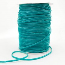 "Tiny Velvet Ribbon Trim in Deep Aqua ~ 1/8"" wide"