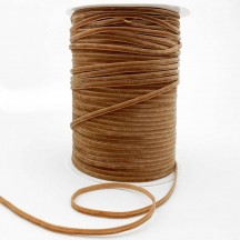 """Tiny Velvet Ribbon Trim in Fawn Brown ~ 1/8"""" wide"""