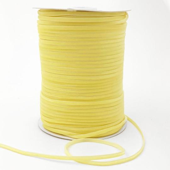 """Tiny Velvet Ribbon Trim in Light Yellow ~ 1/8"""" wide"""