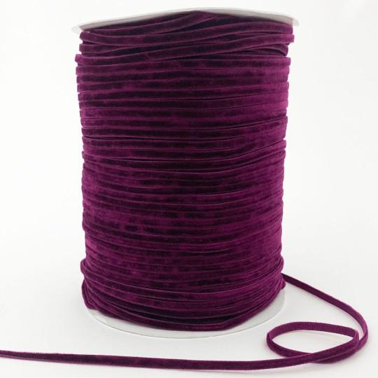 "Tiny Velvet Ribbon Trim in Mulberry ~ 1/8"" wide"