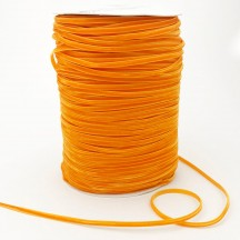 "Tiny Velvet Ribbon Trim in Orange ~ 1/8"" wide"