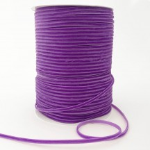 "Tiny Velvet Ribbon Trim in Orchid Purple ~ 1/8"" wide"
