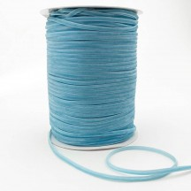 "Tiny Velvet Ribbon Trim in Powder Blue ~ 1/8"" wide"