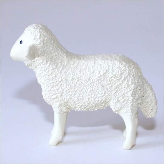 "Handpainted Wooden Sheep ~ 1-5/8"" ~ Made in Erzgebirge Germany"