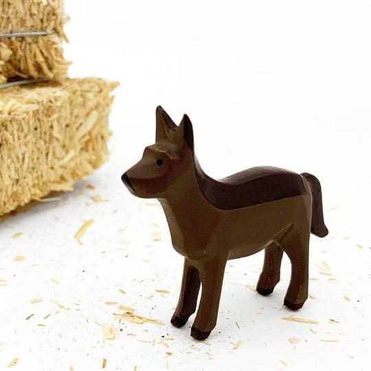 "Handpainted Wooden Sheep Hound ~ 1-5/8"" ~ Made in Erzgebirge Germany"