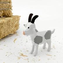 "Handpainted Wooden Goat ~ 2"" ~ Made in Erzgebirge Germany"