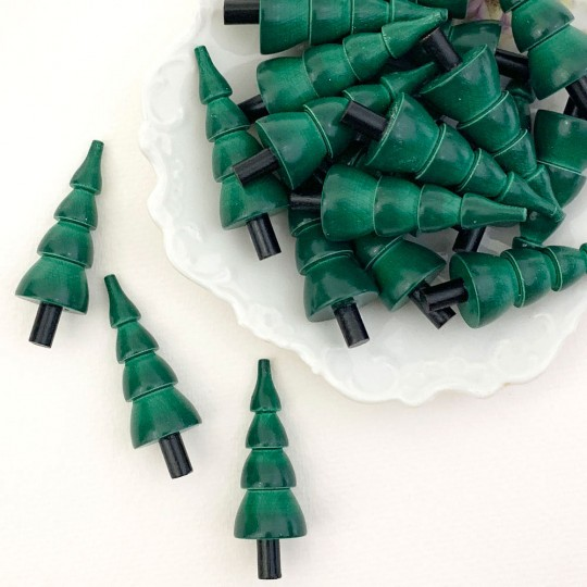Miniature Wooden Green Tree ~ Made in Erzgebirge Germany