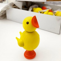 Yellow Wooden Easter Chick ~ Made in Erzgebirge Germany