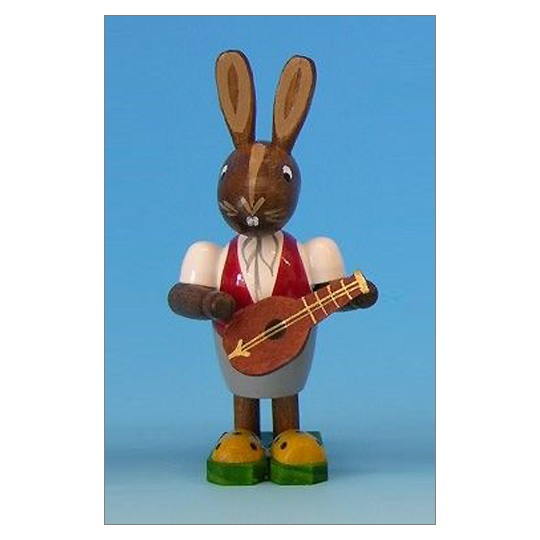Wooden Musician Easter Bunny ~ Made in Erzgebirge Germany