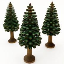 12cm Wooden Tree in Green ~ Schichtenbaumchen ~ Made in Erzgebirge Germany