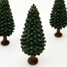 16cm Wooden Tree in Green ~ Schichtenbaumchen ~ Made in Erzgebirge Germany