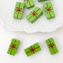 Miniature Wooden Gift in Green ~ Made in Erzgebirge Germany ~ Repair Supply