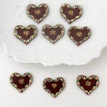 Miniature Wooden Lebcuchen Heart ~ Made in Erzgebirge Germany ~ Repair Supply