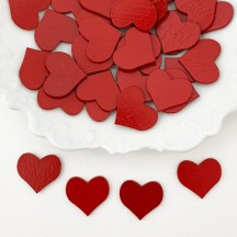 Miniature Wooden Red Hearts ~ Set of 4 ~ Made in Erzgebirge Germany ~ Repair Supply