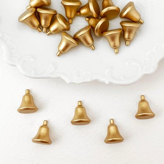 Miniature Wooden Golden Bell ~ Made in Erzgebirge Germany ~ Repair Supply