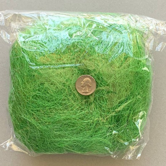Sisal Easter Grass for Baskets and Crafts ~ Grass Green
