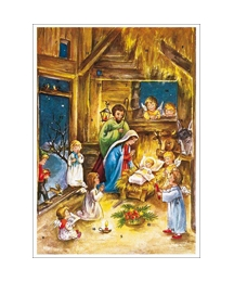 Moonlit Manger Advent Calendar ~ Germany
