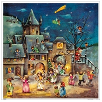 Musical Angels Square Advent Calendar ~ Germany