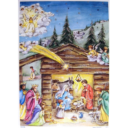 Holy Star Vintage Style Advent Calendar