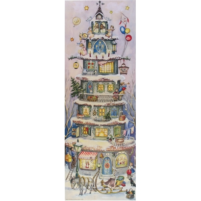 Large Multi-Storey Christmas House Advent Calendar
