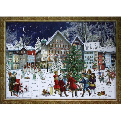 Village Tree Victorian Style Advent Calendar