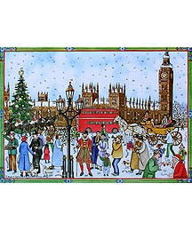 Old London Vintage Style Advent Calendar