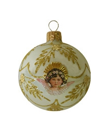 Fancy Pink Angel Ornament