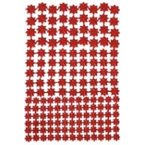 Red Classic Dresden Stars ~ 159 Assorted